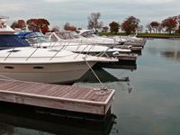 Boats Moored in the Fall