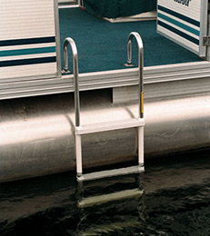 Side-mount Pontoon Boat Boarding Ladder