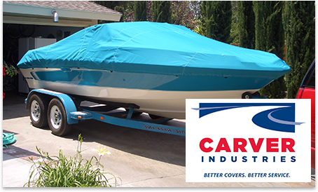 Carver boat cover example