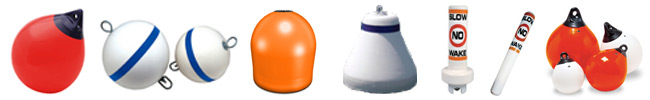 Polyform and Taylor Made buoys, mooring buoys, mooring balls, marker buoys, lighted buoys, and fishing buoys