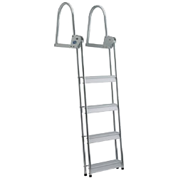 A 4-step flip-up dive ladder with the steps flipped down