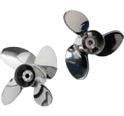 stainless steel three-blade and four-blade boat propellers
