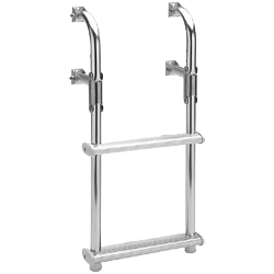A 2-step compact transom boat ladder