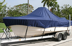 Semi-custom boat covers fit a certain style of boat